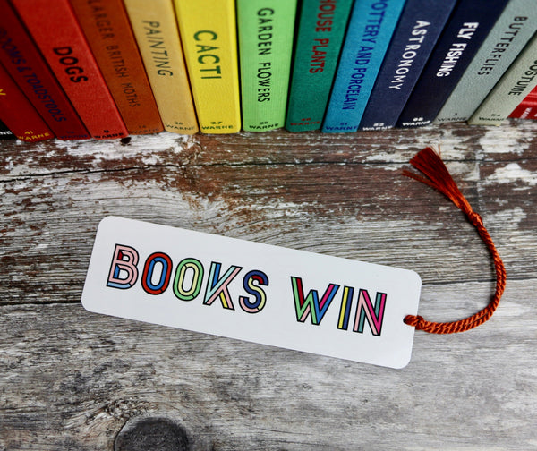Colourful Personalised Typographic Design Bookmark - a lovely Unique Gift from Auntie Mims