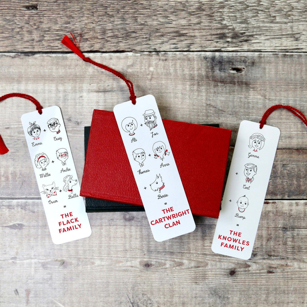 Personalised Family Equation Aluminium Bookmark - a lovely Unique Gift from Auntie Mims