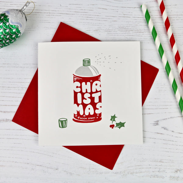 Scented Christmas Roomspray Design Card - a Unique gift and original gift from Auntie Mims ideal for Christmas