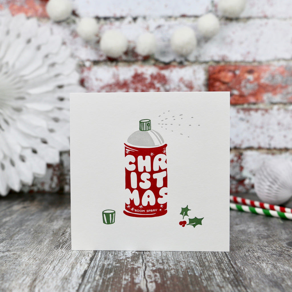 Scented Christmas Roomspray Design Card - a lovely Unique Gift from Auntie Mims