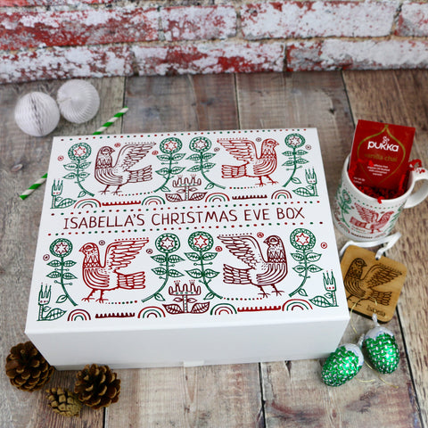 Large Scandi Design Personalised Christmas Eve Box - Auntie Mims