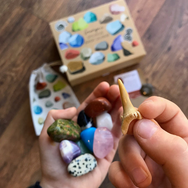 Gemstone Geological Advent Calendar - a Unique gift and original gift from Auntie Mims ideal for Christmas