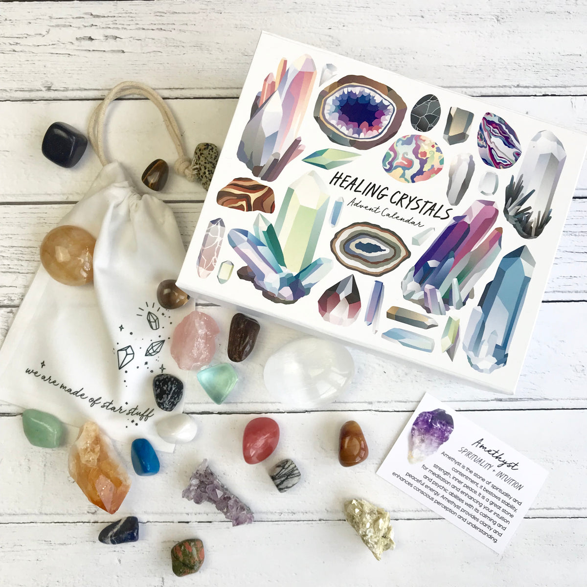 Healing Crystal Advent Calendar - a Unique gift and original gift from Auntie Mims ideal for Christmas
