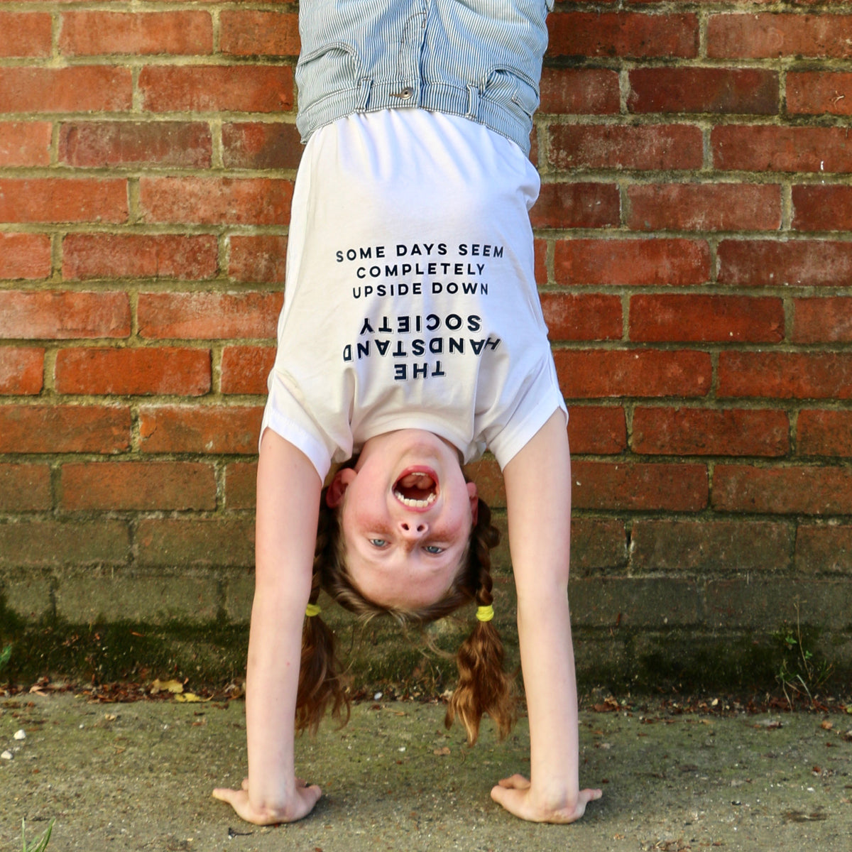 Handstand T shirt for children and adults - a Unique gift and original gift from Auntie Mims ideal for Christmas