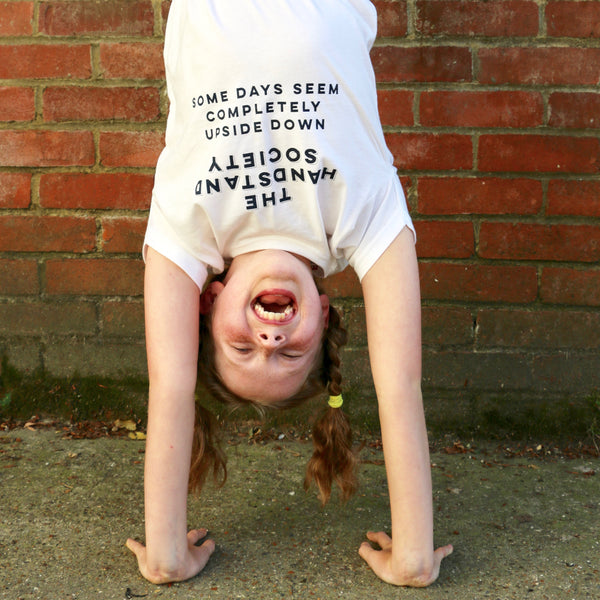 Handstand T shirt for children and adults - a lovely Unique Gift from Auntie Mims