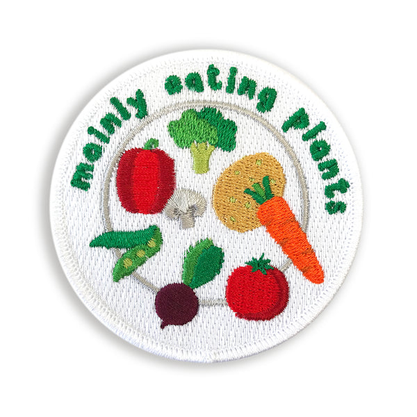 Mainly Eating Plants Embroidered Patch - Auntie Mims