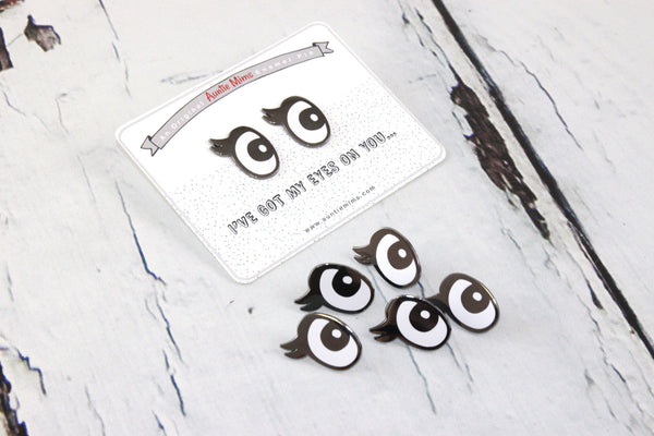 Pair of Eyes Enamel Pins - Group Shot