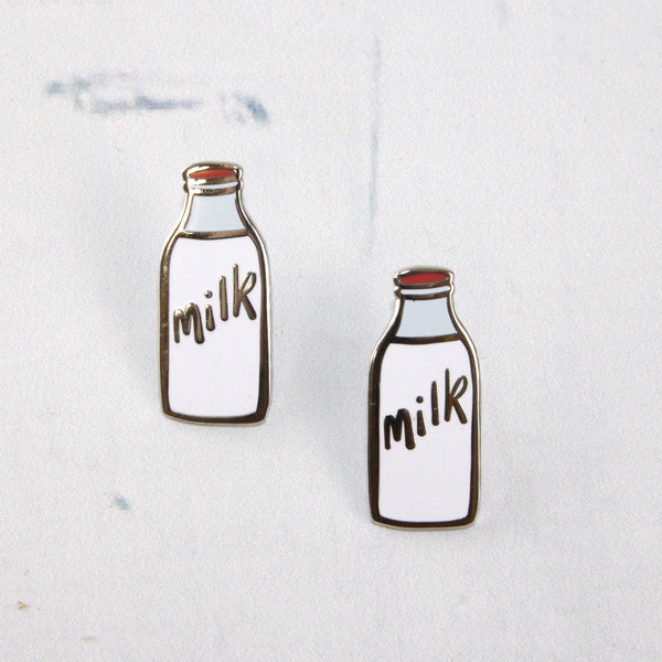 Milk Bottle Enamel Pin - a Unique gift and original gift from Auntie Mims ideal for Christmas