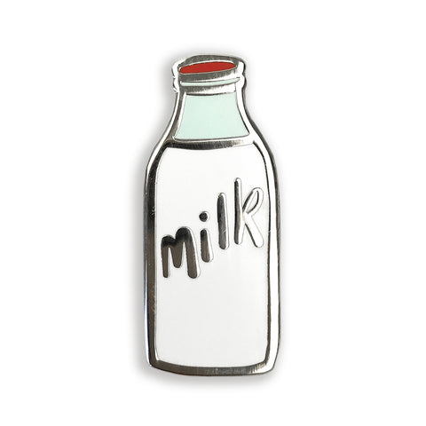 Milk Bottle Enamel Pin - Auntie Mims