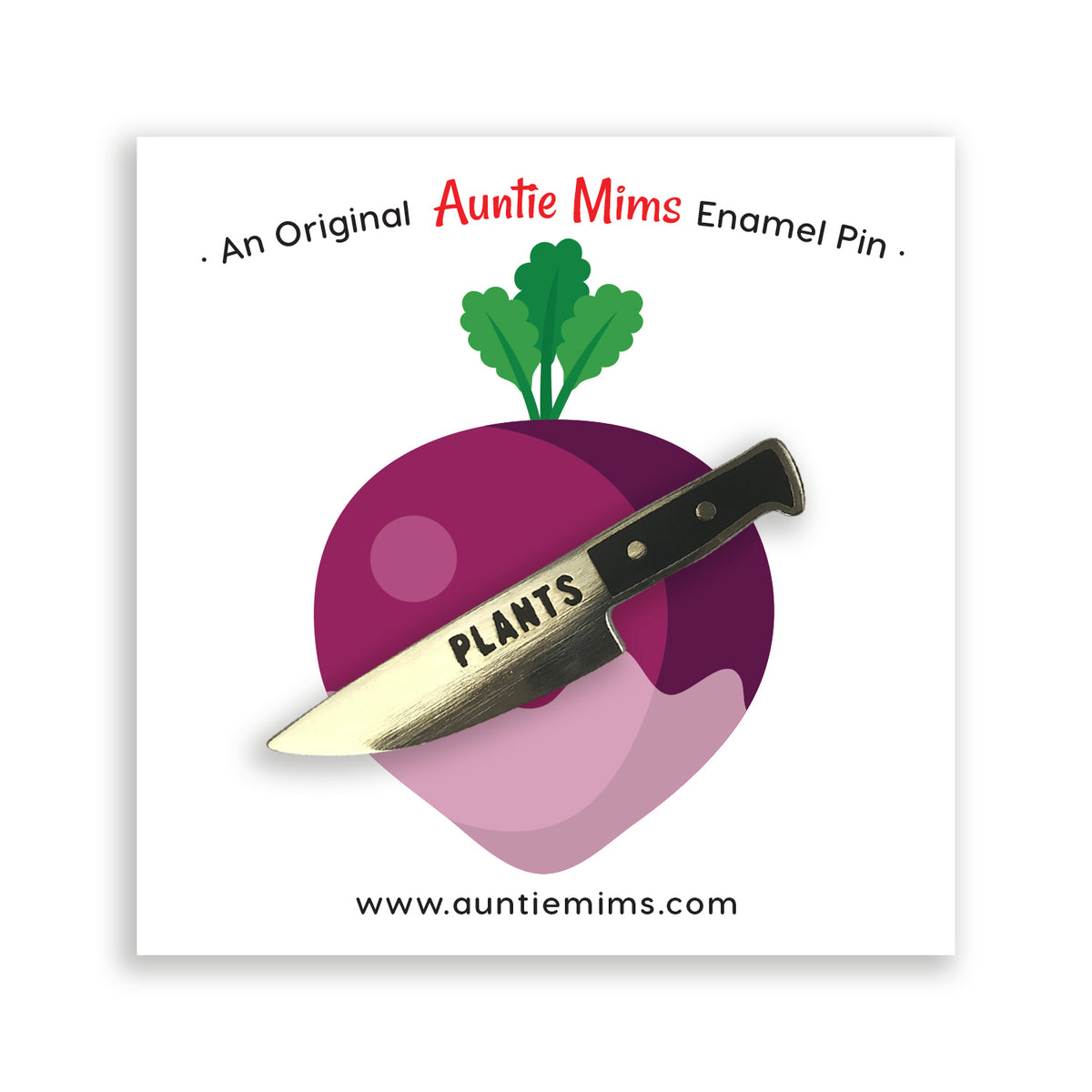 Plants Knife Pin - a Unique gift and original gift from Auntie Mims ideal for Christmas