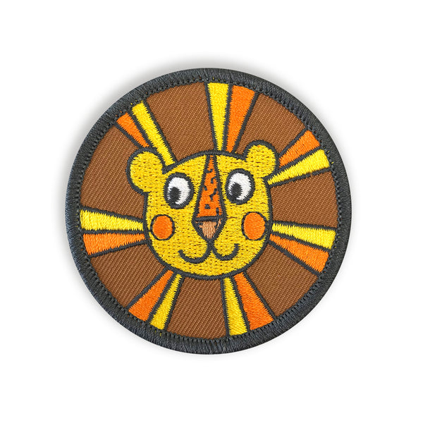 Retro Lion Iron On Embroidered Patch - Auntie Mims