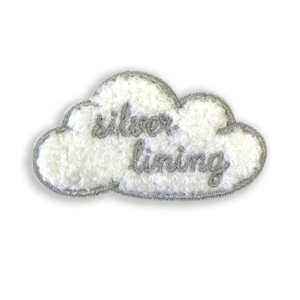 Silver Lining Embroidered Patch - Auntie Mims