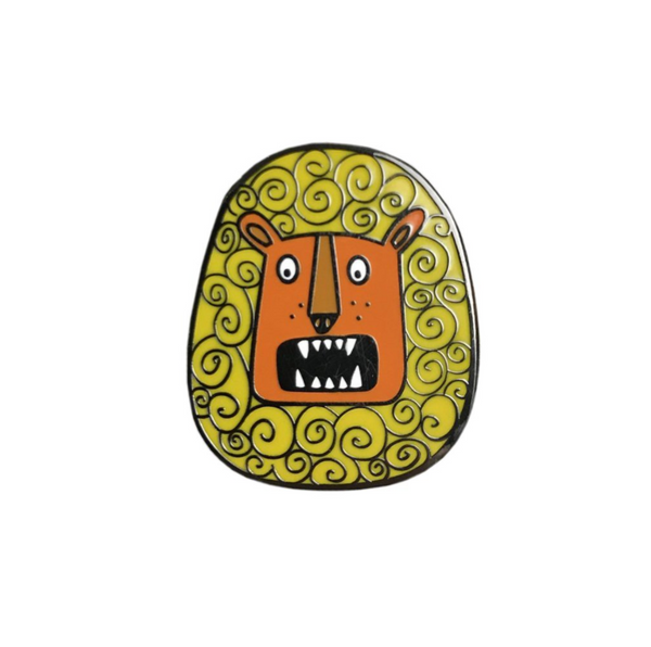 Rory the Roaring Lion Enamel Pin - a Unique gift and original gift from Auntie Mims ideal for Christmas