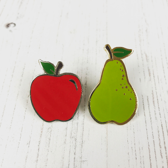 Apples and Pears Enamel Pin Set