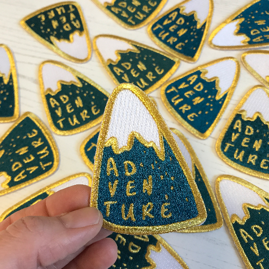 Adventure Mountain Embroidered Iron On Patch - Auntie Mims