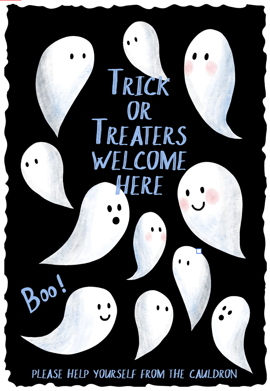 Halloween Trick or Treat metal sign