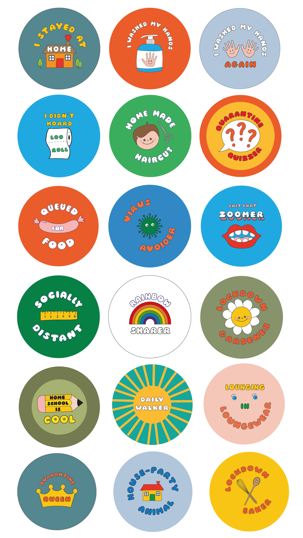 Set of Lockdown Merit Badges