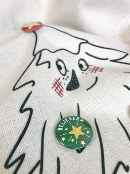 Personalised Badge Christmas Sack Advent Calendar - a Unique gift and original gift from Auntie Mims ideal for Christmas