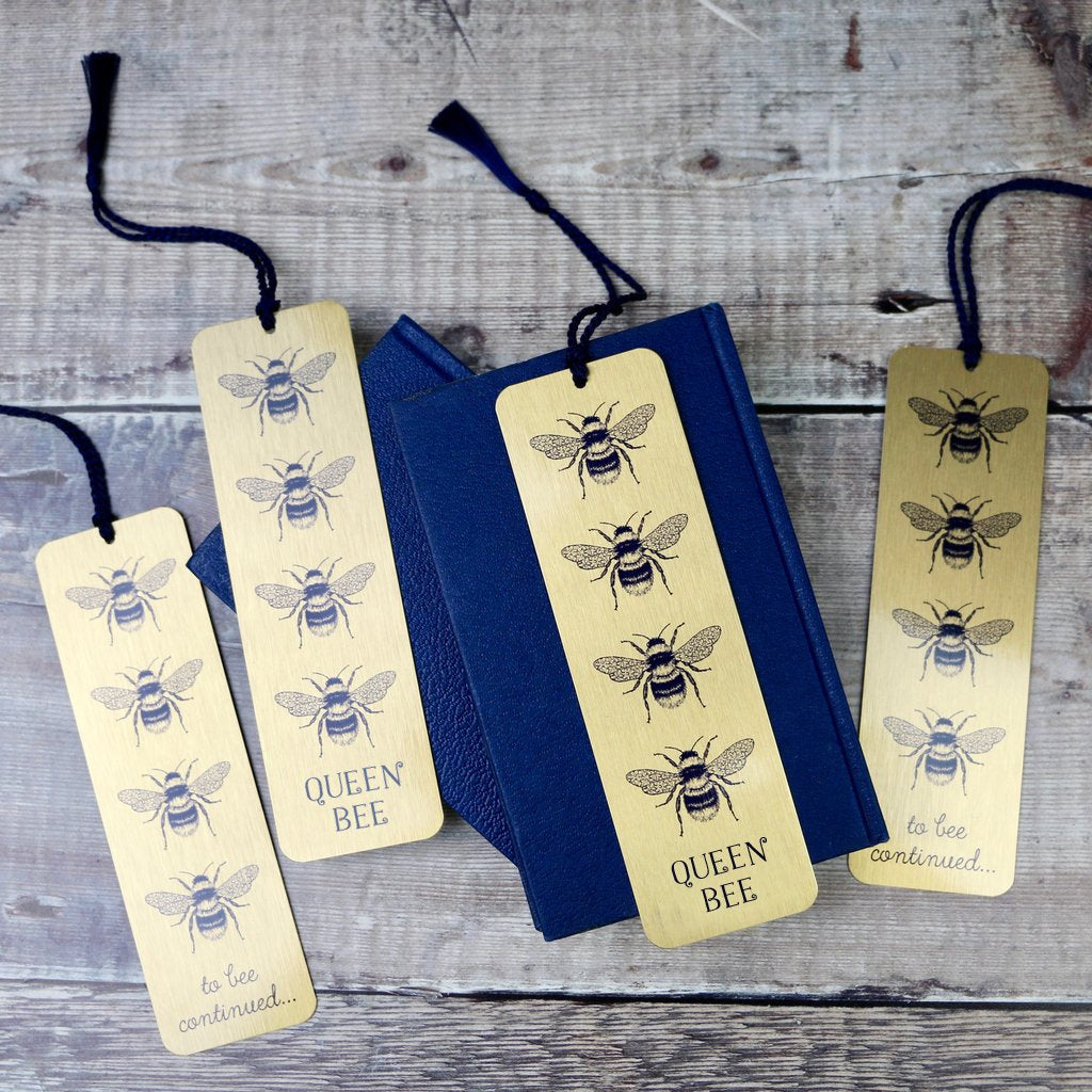 Queen Bee Design Metal Bookmark