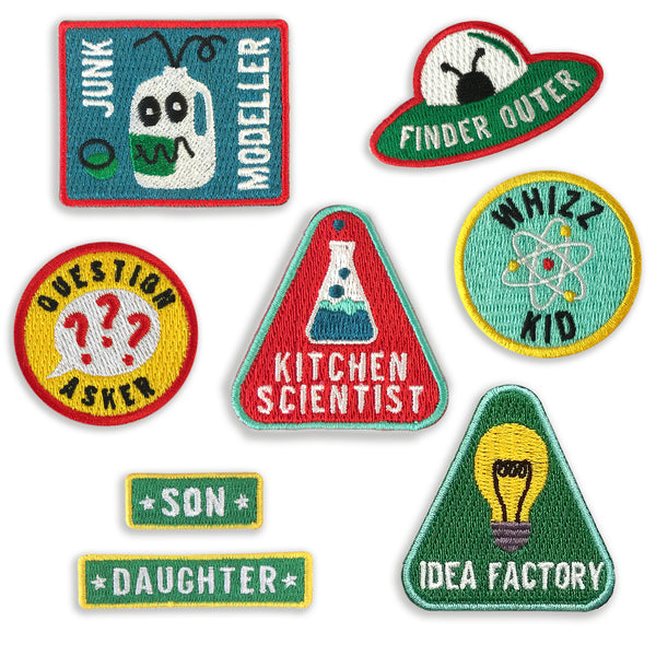 Merit Patches For Enquiring Minds - choose five from the collection - a Unique gift and original gift from Auntie Mims ideal for Christmas