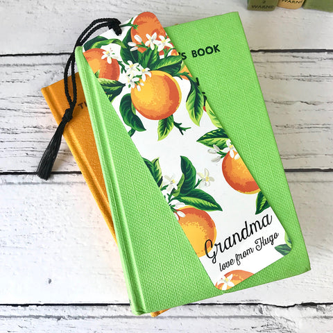 Orange Blossom Design Metal Bookmark - a lovely Unique Gift from Auntie Mims