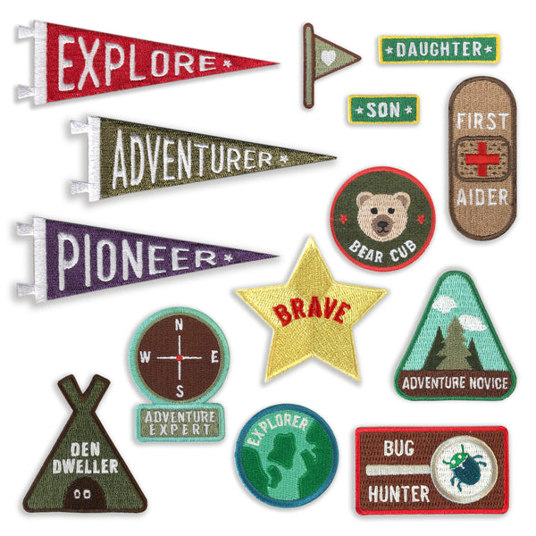 Merit Patches For Adventurers - five patches from the collection - a Unique gift and original gift from Auntie Mims ideal for Christmas