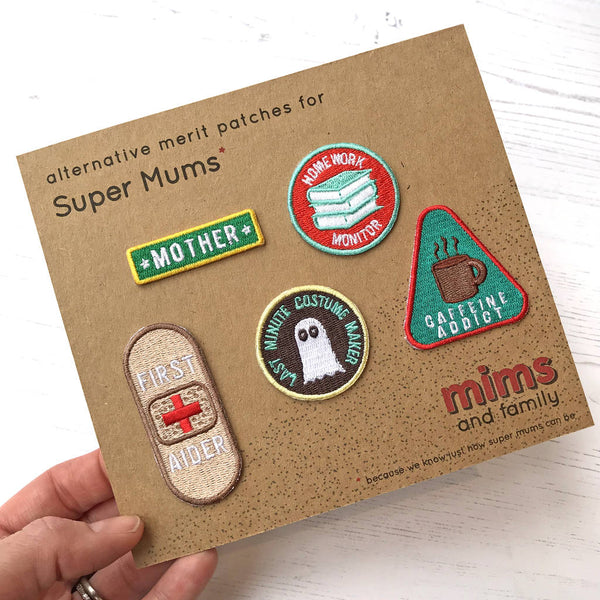 Embroidered Merit Patch Set For Super Mums