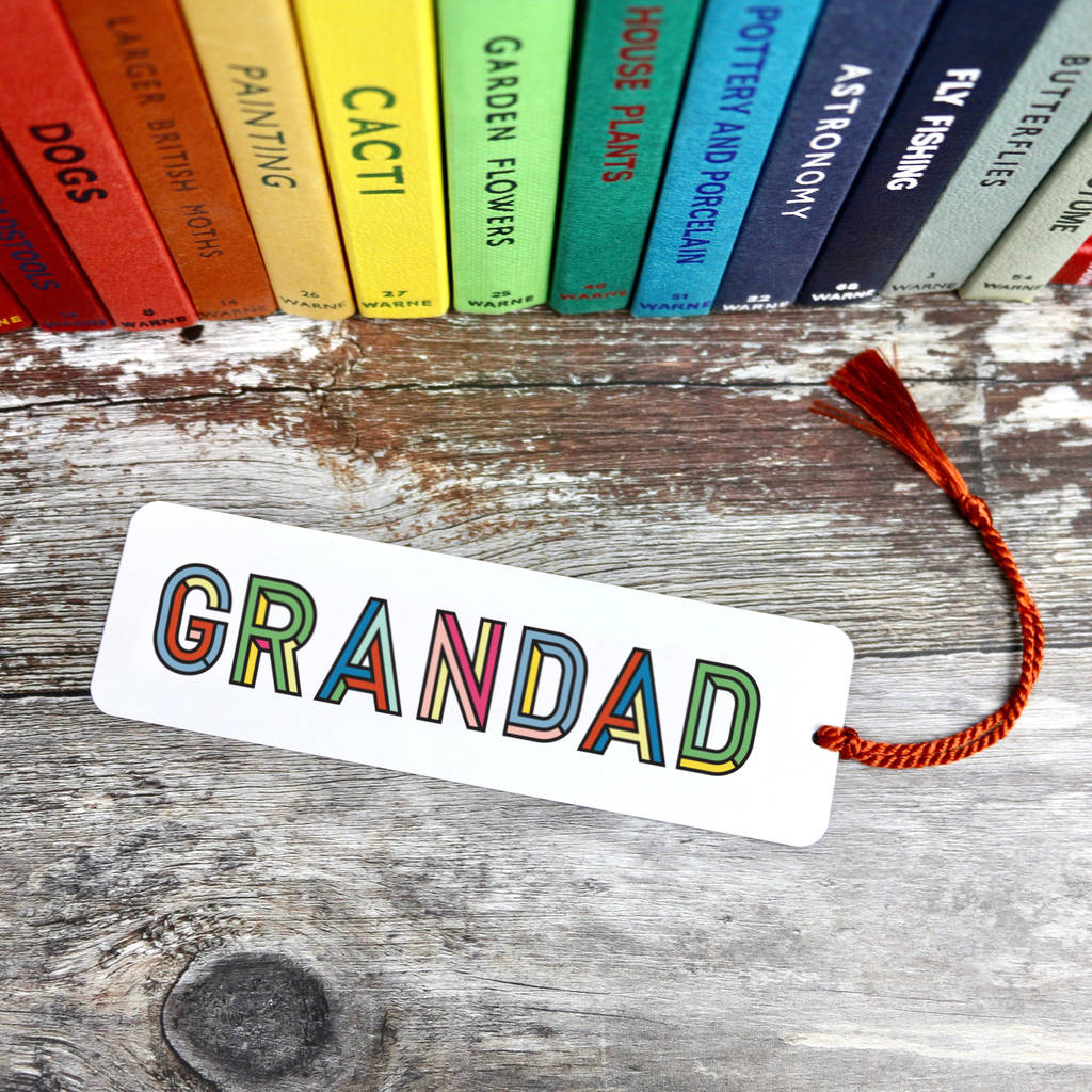 Father's Day Bookmark - a lovely Unique Gift from Auntie Mims