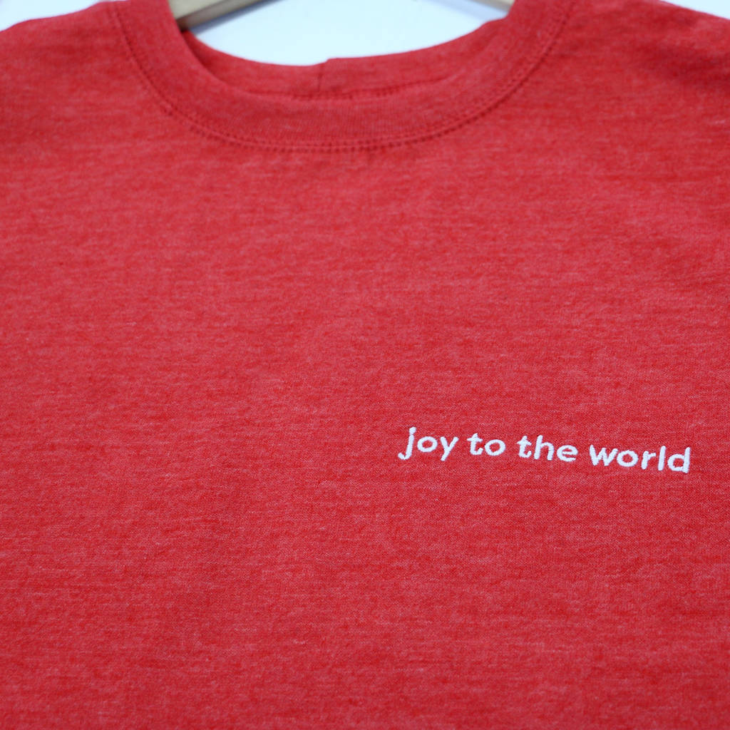 Joy To The World Embroidered Christmas Jumper - a Unique gift and original gift from Auntie Mims ideal for Christmas