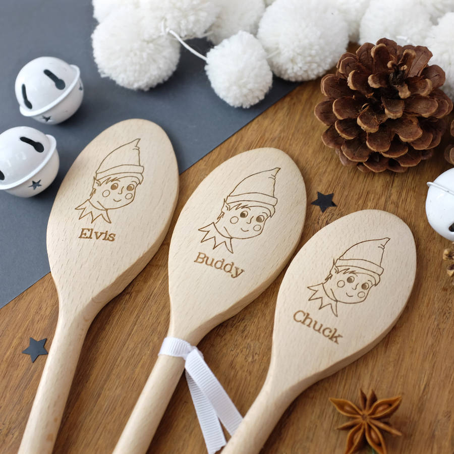 Personalised Elf Spoon - a lovely Unique Gift from Auntie Mims