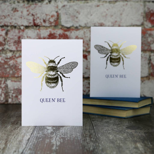 Queen Bee Gold Mother's Day Card - Auntie Mims