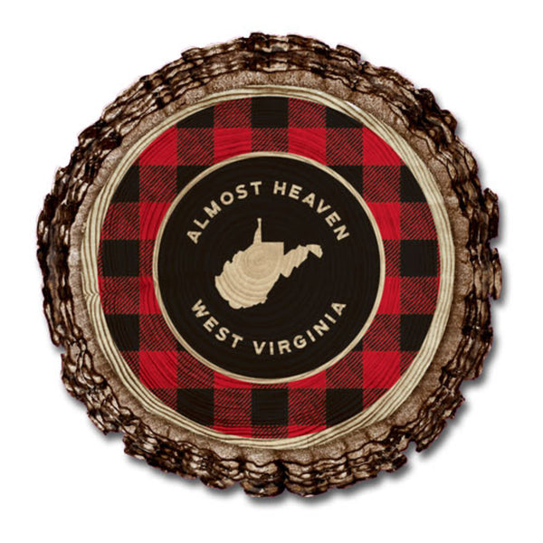 Almost Heaven Plaid Magnet
