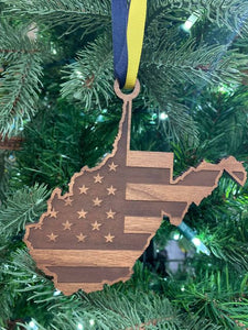 US Flag WV Ornament