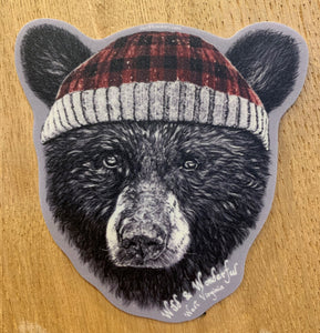 Black Bear w/ Toboggan Sticker