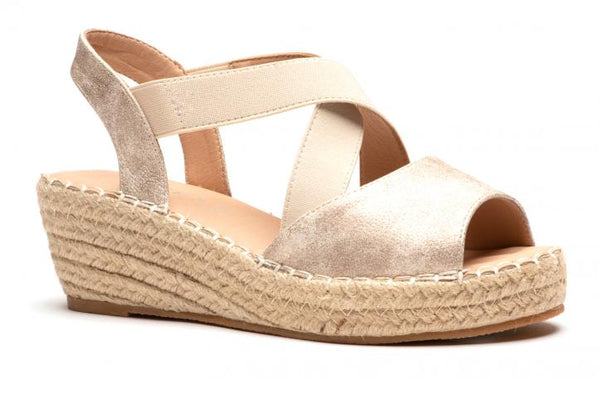 Gold Kimmie Wedge