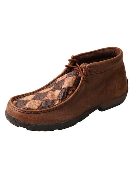 Men's Saddle Ostrich Driving Moc