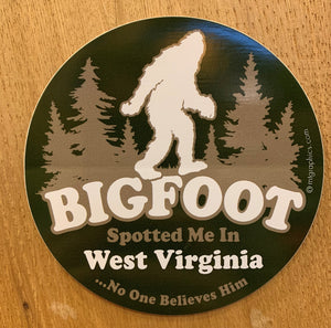 Bigfoot Spotted Me Sticker