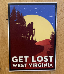 Get Lost WV Sticker