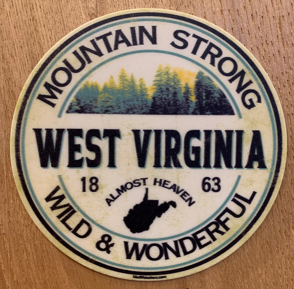 WV Mountain Strong Sticker