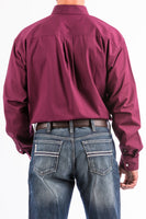 Men's Burgundy Button Down