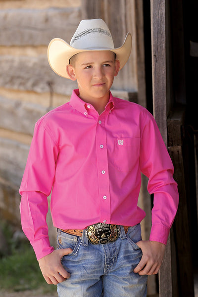 Kid's Pink Button Down