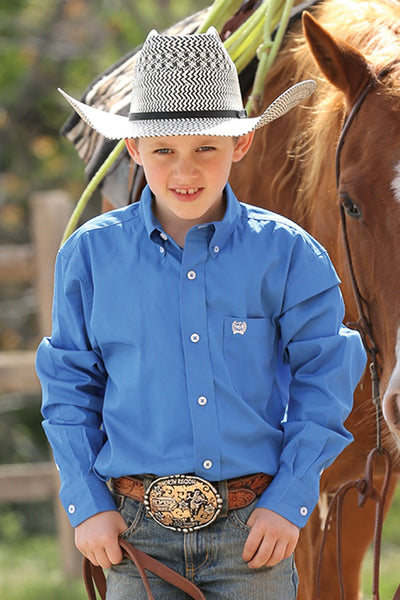 Kid's Royal Blue Button Down