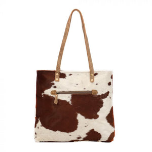 Caramel Front Pocket Hairon Tote