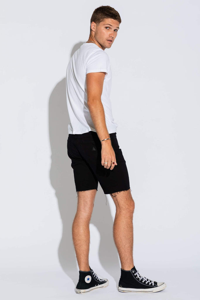 A Dropped Skinny - Black Short