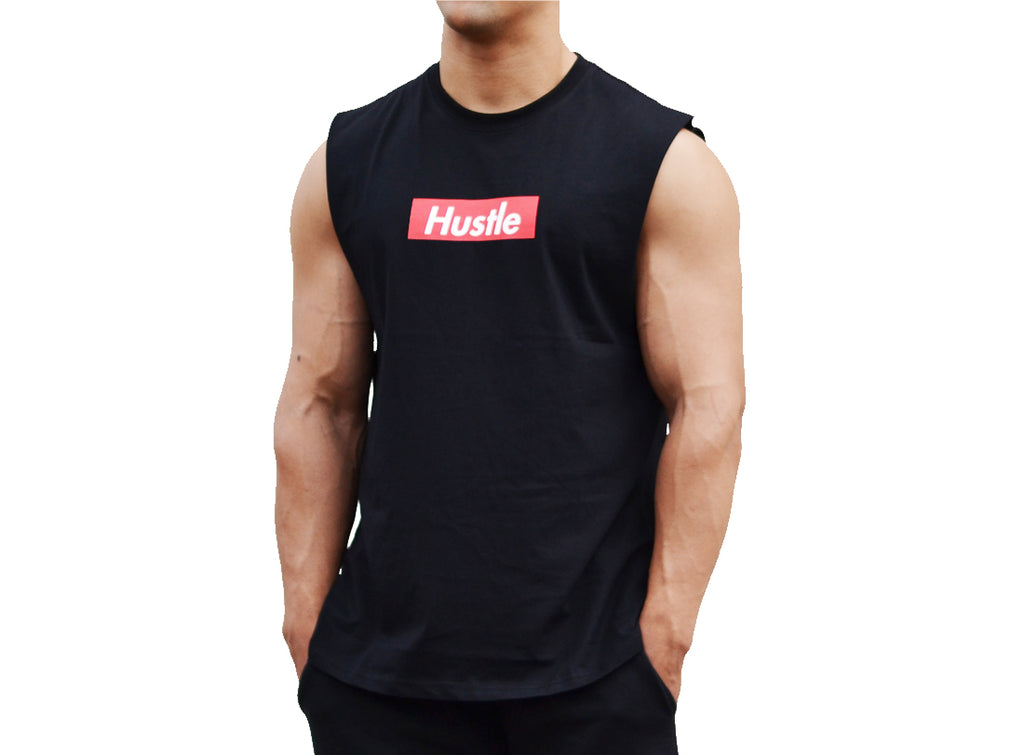Hustle Box Logo - Muscle Tank