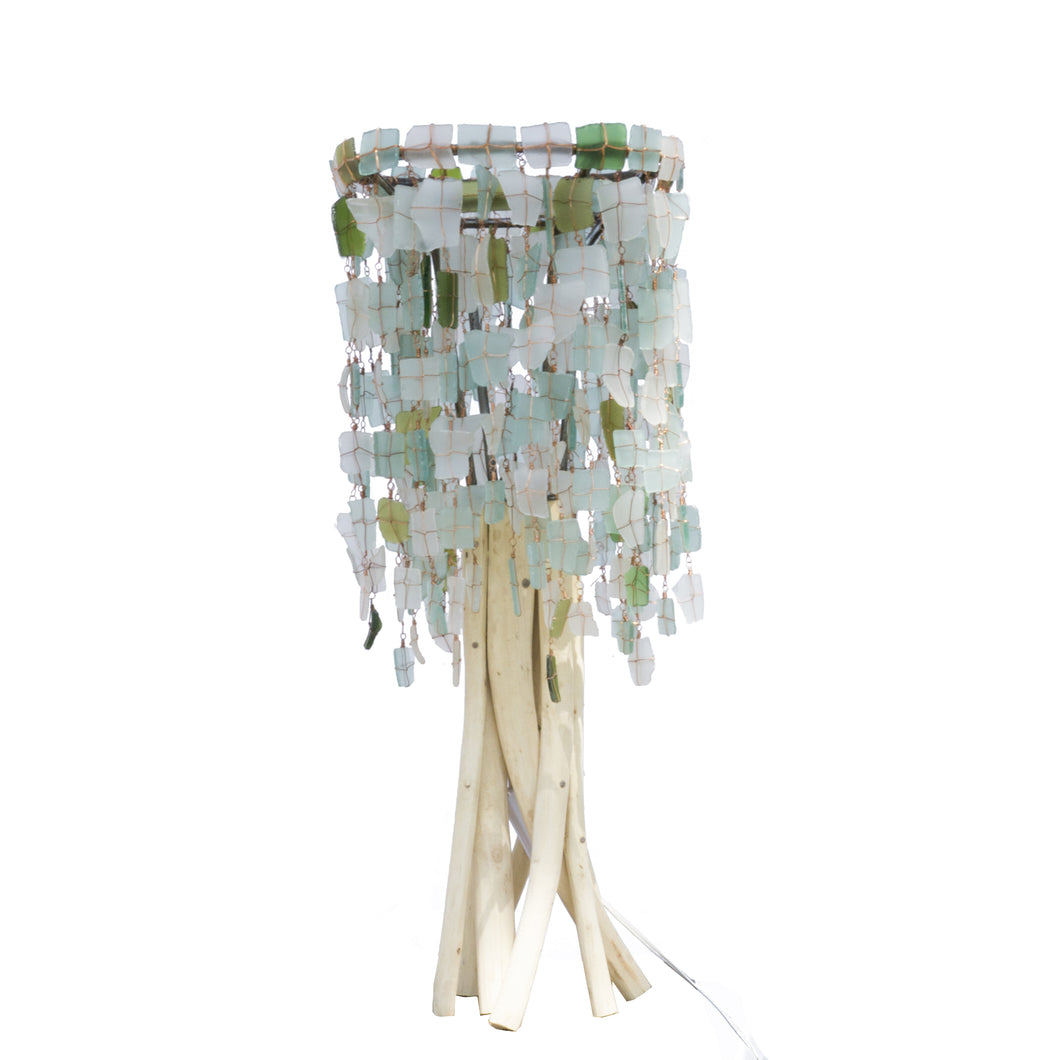 Tumbled Glass Lampshade