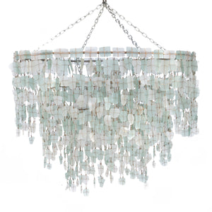 Tumbled Glass Chandelier - Large