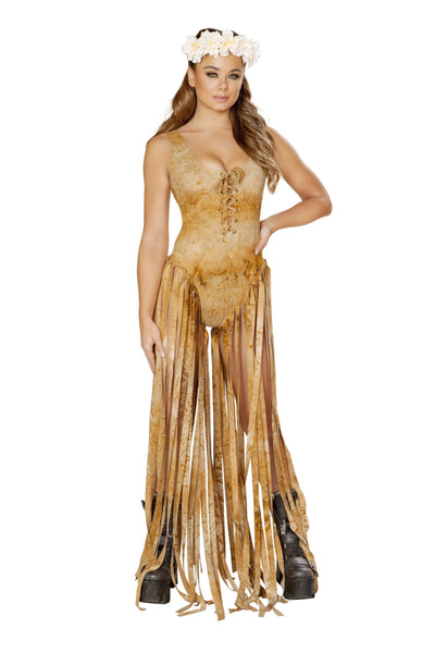 Buy Bodysuit with Long Fringe from RomaRetailShop for 99.99 with Same Day Shipping Designed by Roma Costume 3536-Brwn-S/M