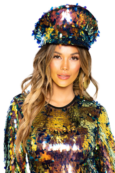 Buy Tear Drop Sequin Hat from RomaRetailShop for  with Same Day Shipping Designed by Roma Costume