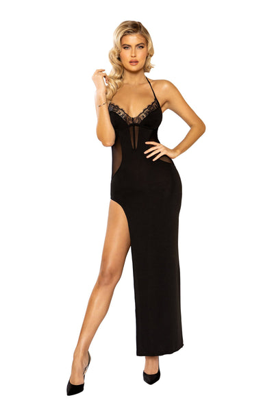 Buy Maxi Length Dress from RomaRetailShop for 35.99 with Same Day Shipping Designed by Roma Costume 3945-Blk-S